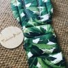 Bahama leaf pram liner min 100x100 - Bahama Pineapple  Pram Liner -Made to order- Custom fit or Universal (Regular polyester, thick heavy weight fabric)