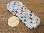 Arrows Navy & Mint on Grey Custom Fit Pram Liners (premium print)