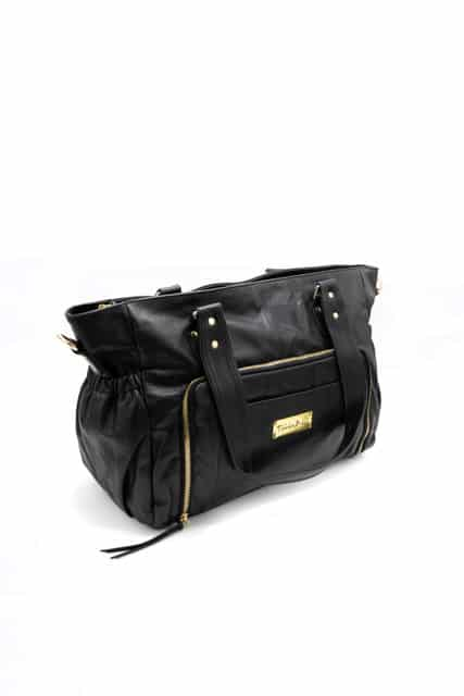 Y910 082 - Casey Leather Baby Bag- Black ( $299 for first 6 orders only)