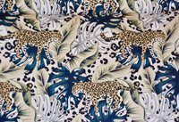 Jungle Leopard Cotton Fabric LIMITED EDITION