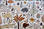 Outback Animals  150x100 - Outback Animals -Made to order- Custom Fit or Universal Pram Liner (regular fabric)